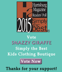 Vote Snazzy Giraffe Simply the Best Kids Clothing Boutique!